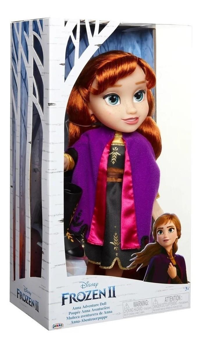 Anna Frozen II - Vestido Luxo - Anna Adveture Doll