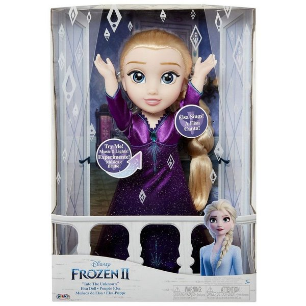 Elsa Frozen II - Canta e vestido com luz