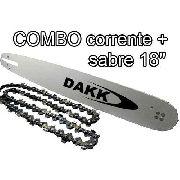 Combo Corrente E Sabre 18'' 0,325 Original Dakk Motosserras