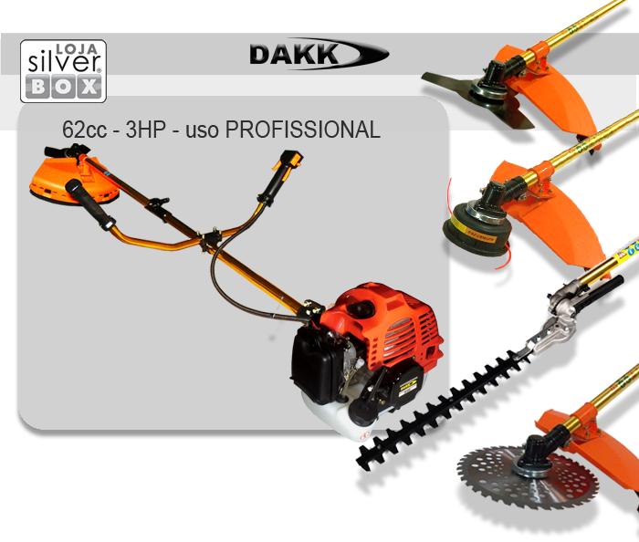 Roçadeira DAKK 62cc 3hp com acessórios  - Loja Silver Box
