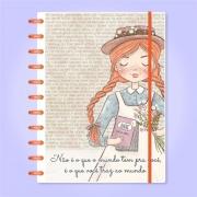 Caderno de Disco Infinito Sistema Inteligente Capa Polaseal - Anne de Green Gables With an E