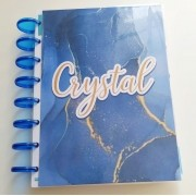 Caderno de Disco Infinito Sistema Inteligente - Mármore Azul