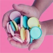 Disco de Caderno Liso Amor Infinito M 24 ou  G 32mm -  Coleção Marshmellow