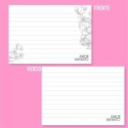 Ficha Pautada de Resumo para Caderno de Disco - Floral