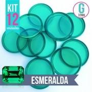 Kit 12 Discos G 32mm de Caderno Infinito Sistema Inteligente Translúcido Liso Amor Infinito - Esmeralda