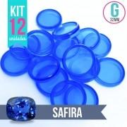 Kit 12 Discos G 32mm de Caderno Infinito Sistema Inteligente Translúcido Liso Amor Infinito - Safira