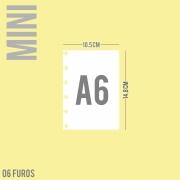 Refil de folha A6 Para Cadernos de Disco Sistema Inteligente - Mini