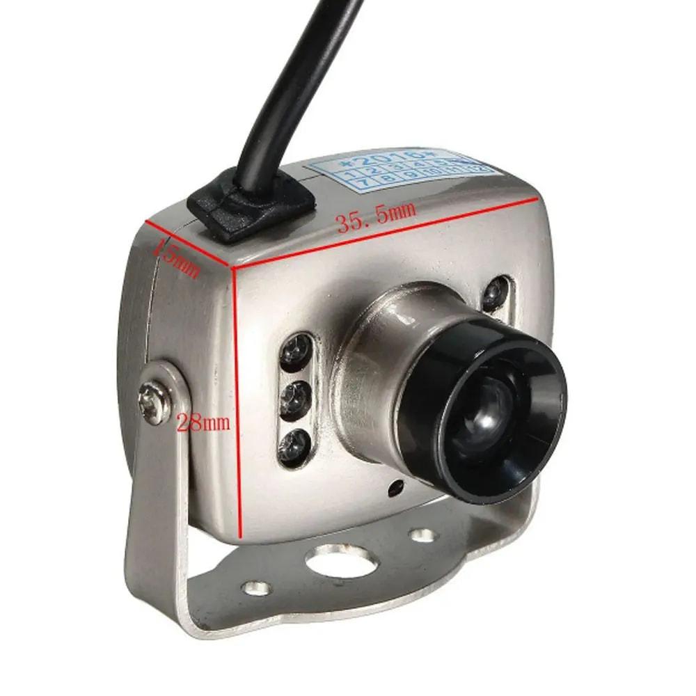 Mini camera infravermelho CCD 6 LED CMOS CCTV Segurança Colorido Visao Noturna