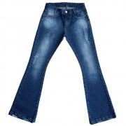 Calça Jeans Clube do Doce Maxi Flare