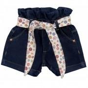 Short Jeans Clube do Doce Flower