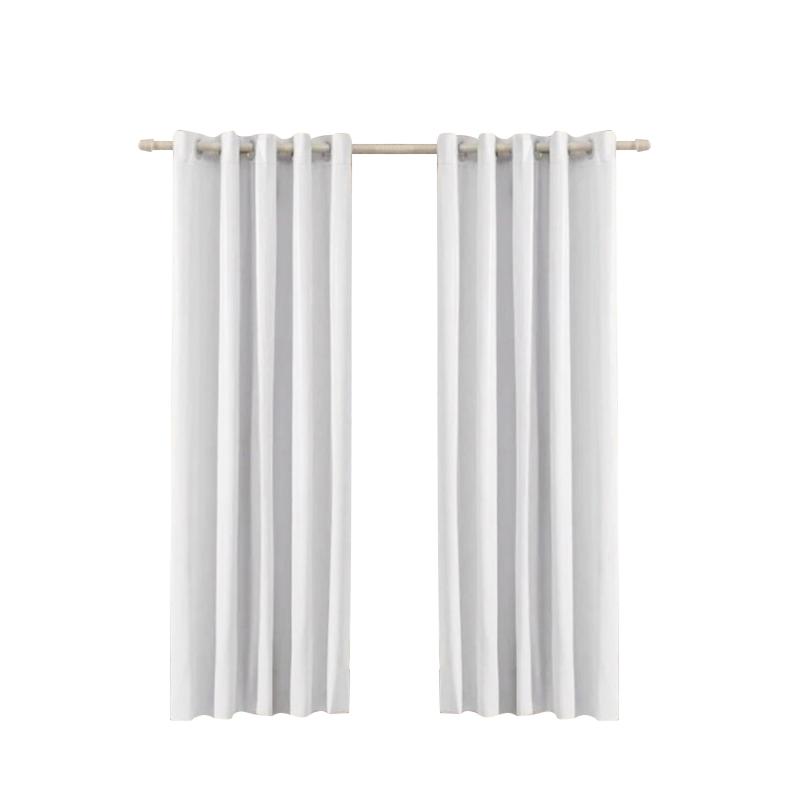 Cortina Corta Luz 2.60 x 2.30 Ilhos Branca-Cinza Bella Arte