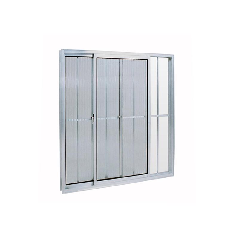 Janela Aluminio 0,80A x 0,080L 2 Folhas Com Grade 158 Clm