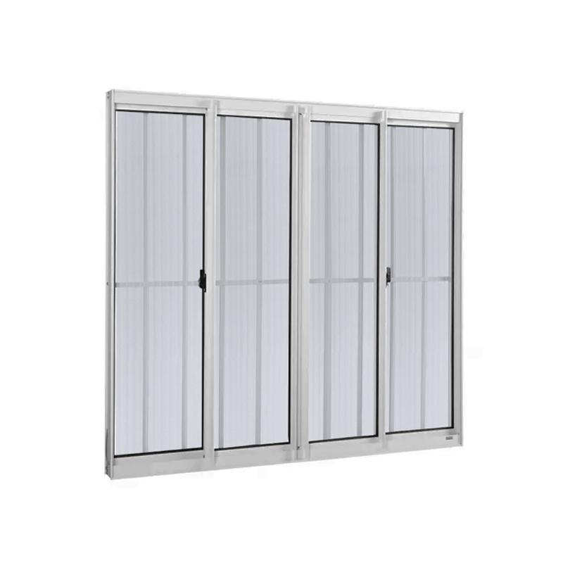 Janela Aluminio 4 folhas 1,00 x 1,20 Com Grade 730 Clm
