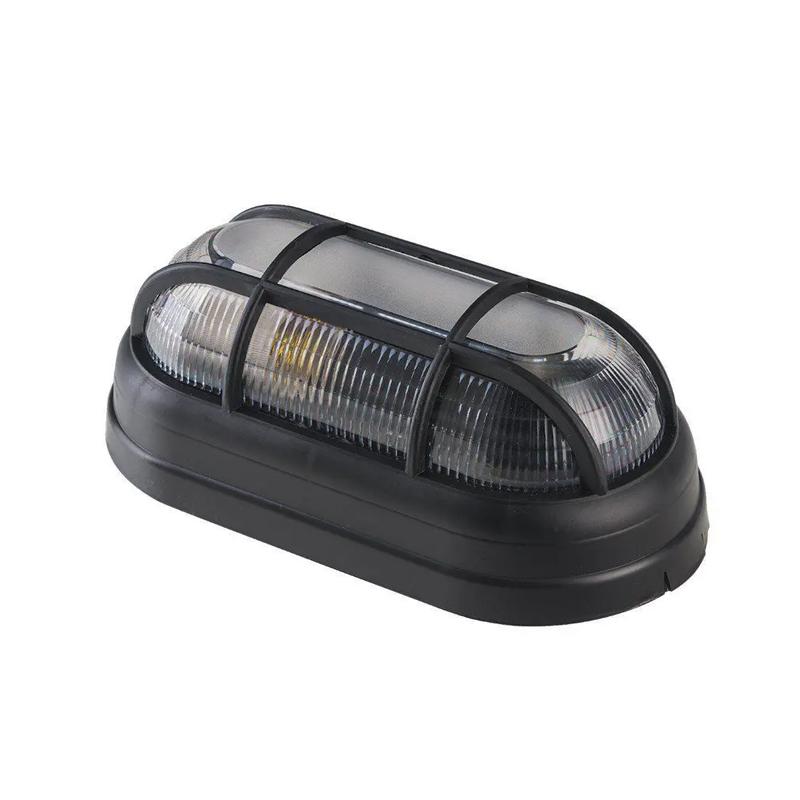 Luminaria Tartaruga Com Grade Preto Demi
