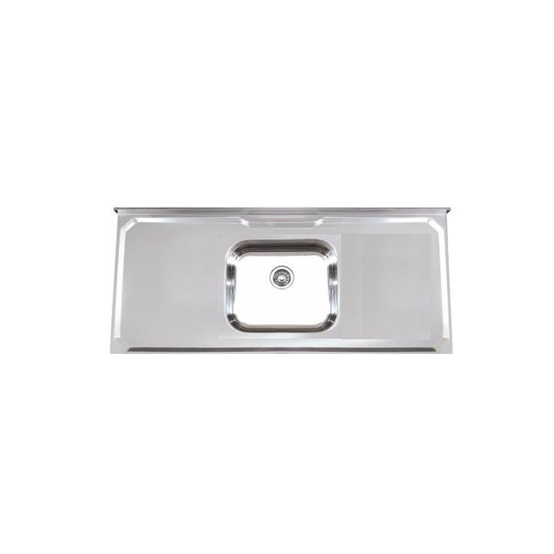 Pia Aço Inox 1.00M Simples Concreto 55279 Pianox
