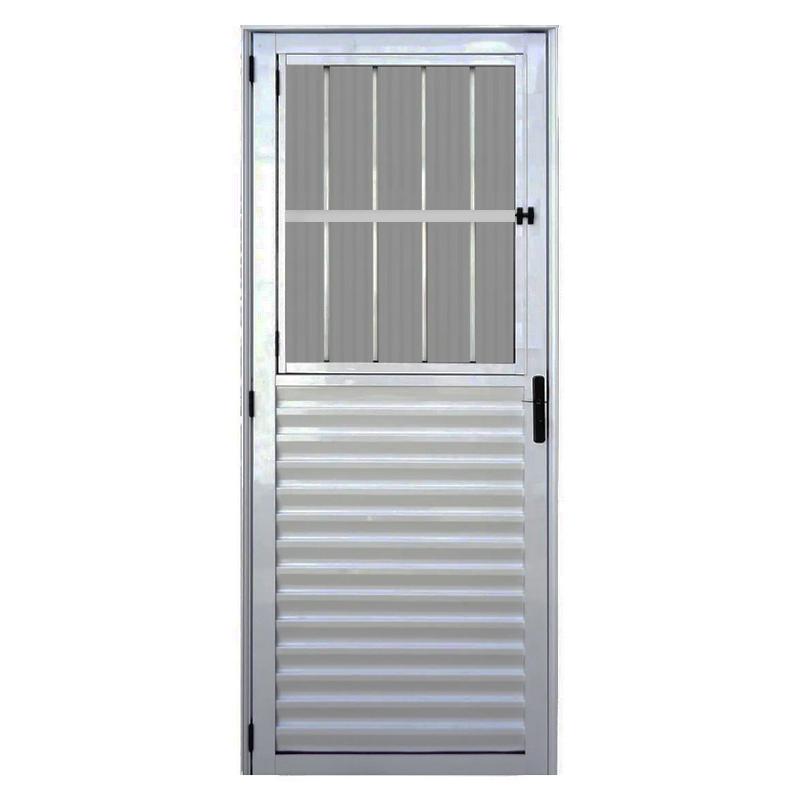 Porta Aluminio 2,10 x 0,80 Postigo Esquerda 382 Clm