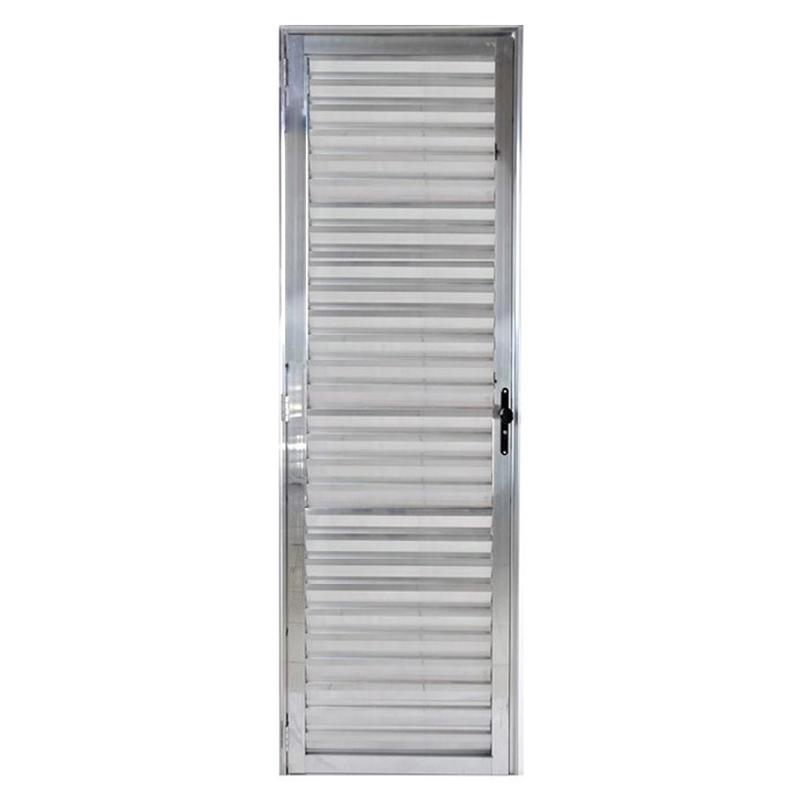 Porta De Aluminio 2,10A x 0,60L Veneziana Direita 215 Clm