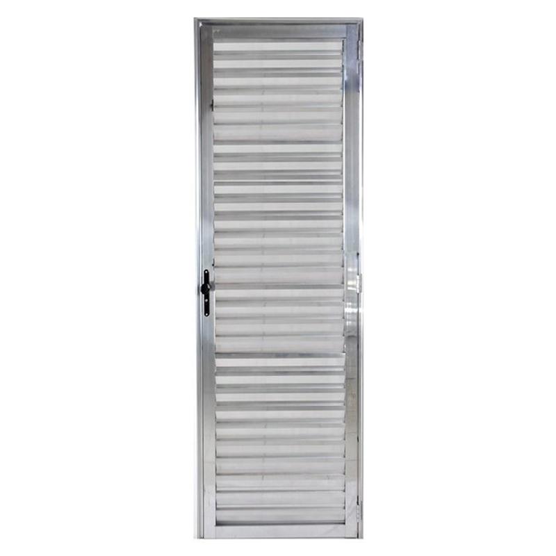 Porta De Aluminio 2,10A x 0,60L Veneziana Esquerda 566 Clm