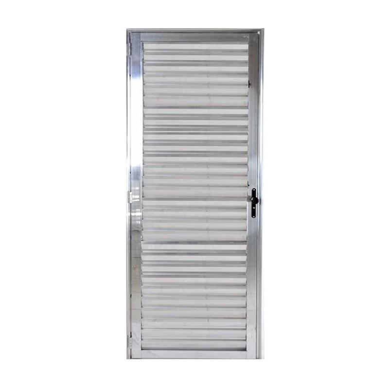 Porta De Aluminio 2,10Ax0,70L Veneziana Esquerda 309 Clm