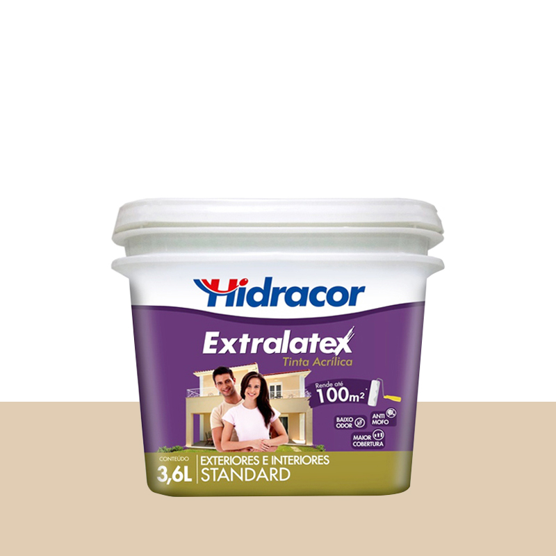 Tinta Acrilica Extralatex Fosca 3,6L Areia Hidracor