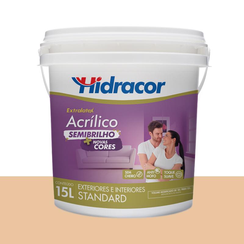 Tinta Acrílica Extralatex Semi Brilho 15L Pêssego Hidracor