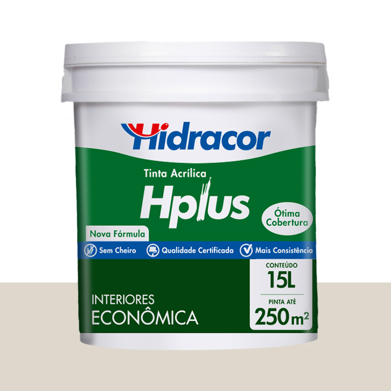 Tinta Acrílica Hplus Fosca 15L Branco Gelo Hidracor