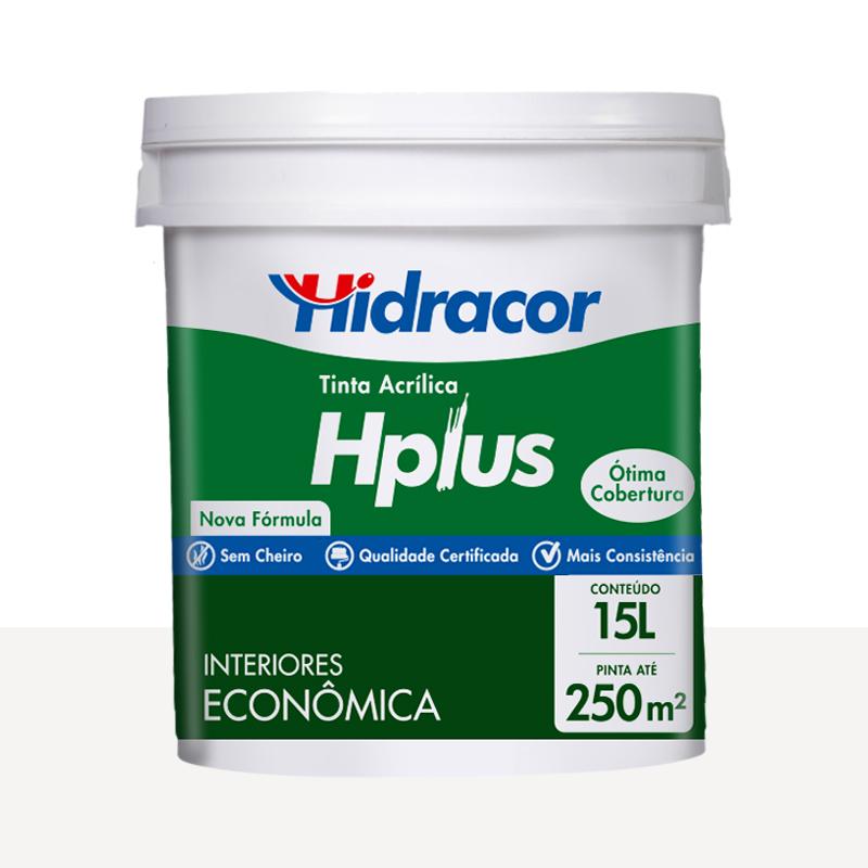 Tinta Acrílica Hplus Fosca 15L Branco Neve Hidracor