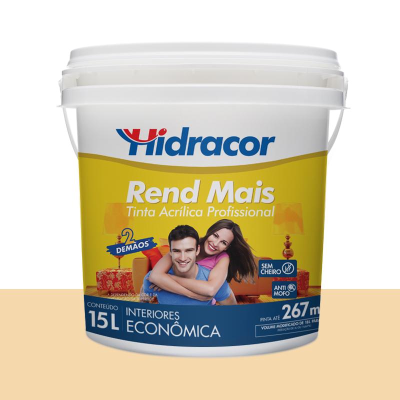 Tinta Acrilica Rendmais Fosca 15L Amarelo Vanila Hidracor