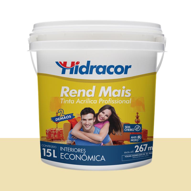 Tinta Acrilica Rendmais Fosca 15L Marfim Hidracor