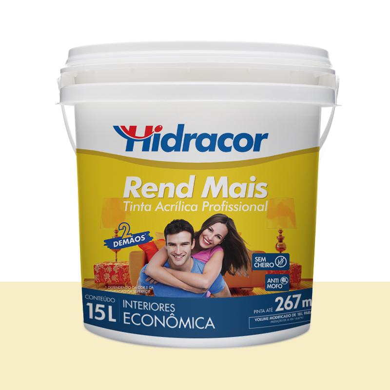 Tinta Acrilica Rendmais Fosca 15L Perola Hidracor