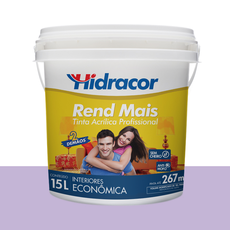 Tinta Acrilica Rendmais Fosca 15L Violeta Claro Hidracor