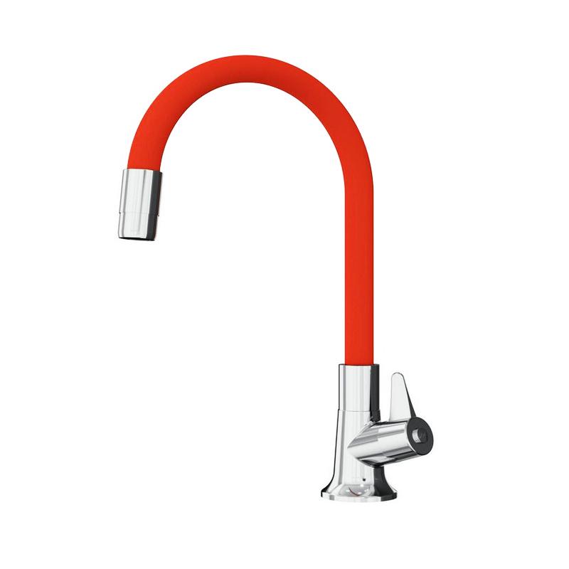 Torneira Para Cozinha De Mesa Bica Móvel Flexível Vermelha 1167V Japi