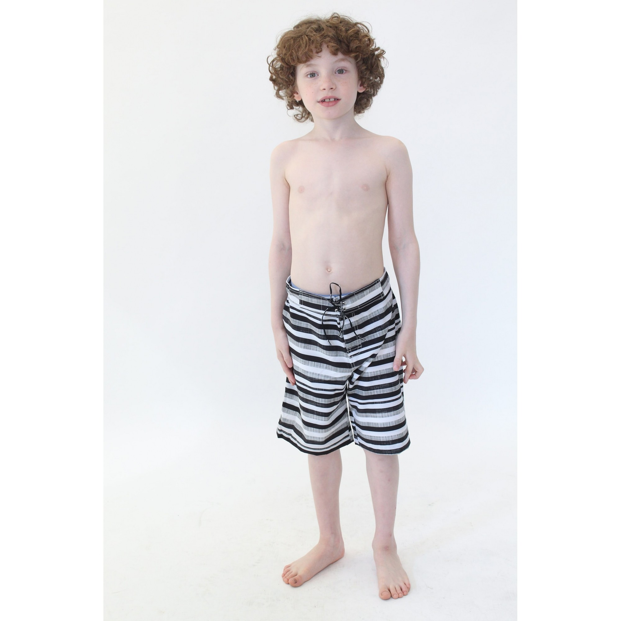 Bermuda Surf Infantil Black Stripes