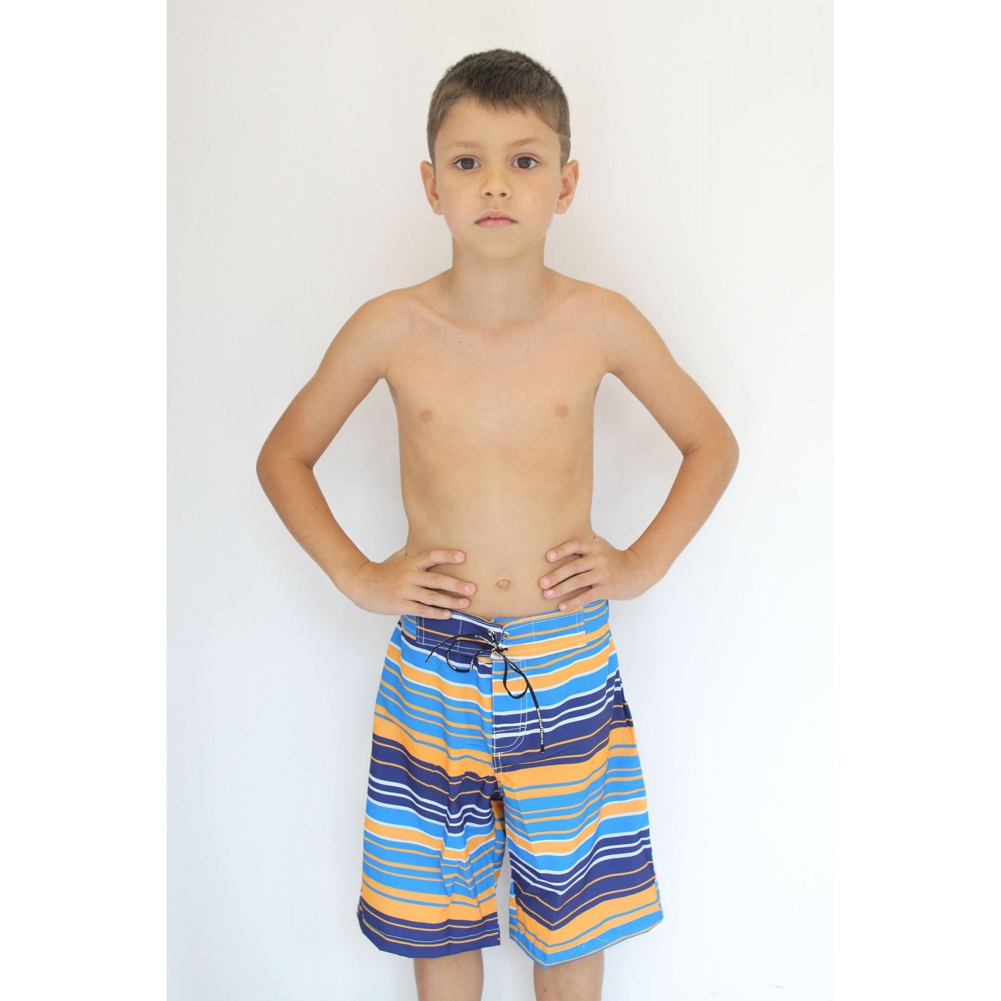 Bermuda Surf Infantil Orange Stripes
