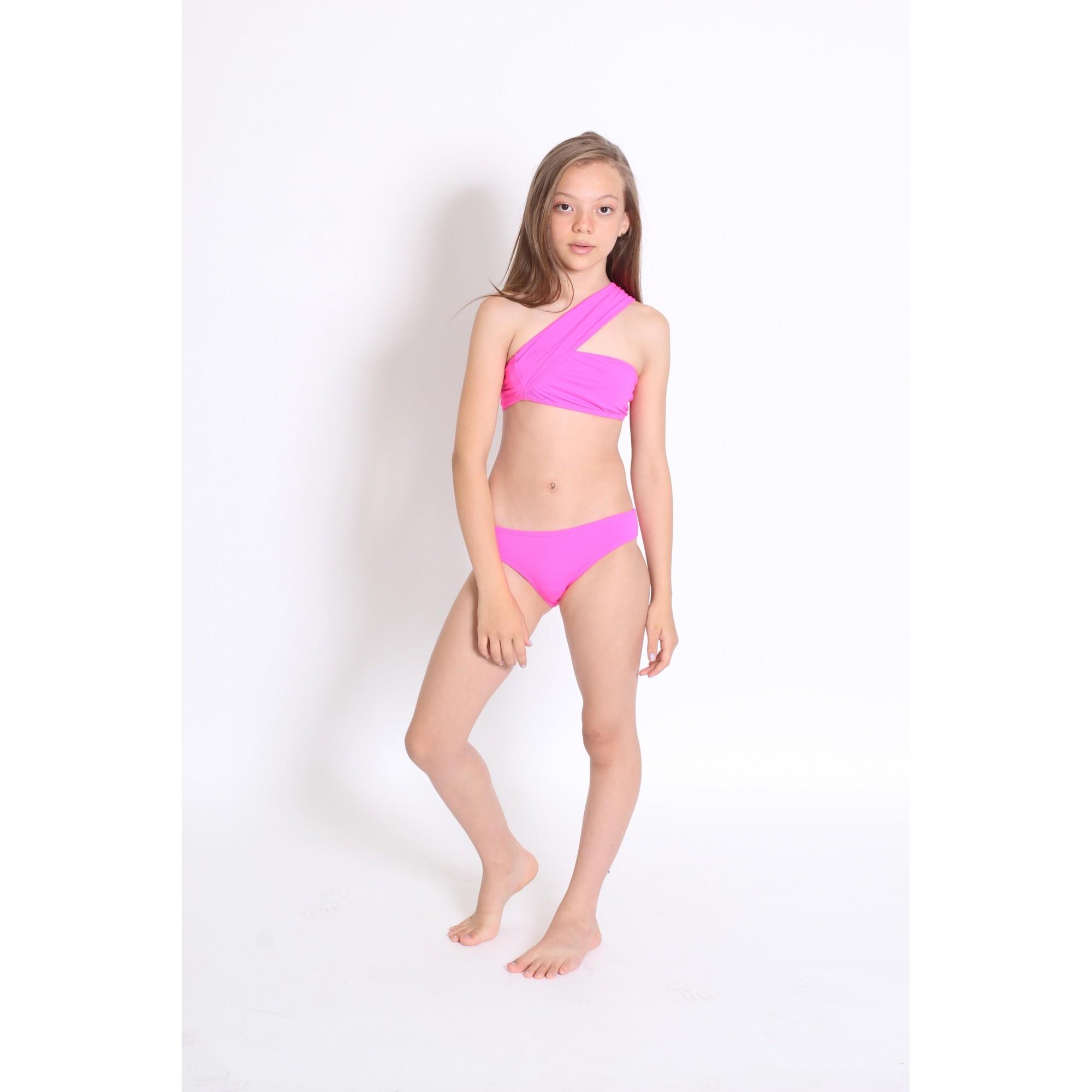 Biquíni Lycra Proteção UPF50+ Hawai Pink Neon - Verão 2021