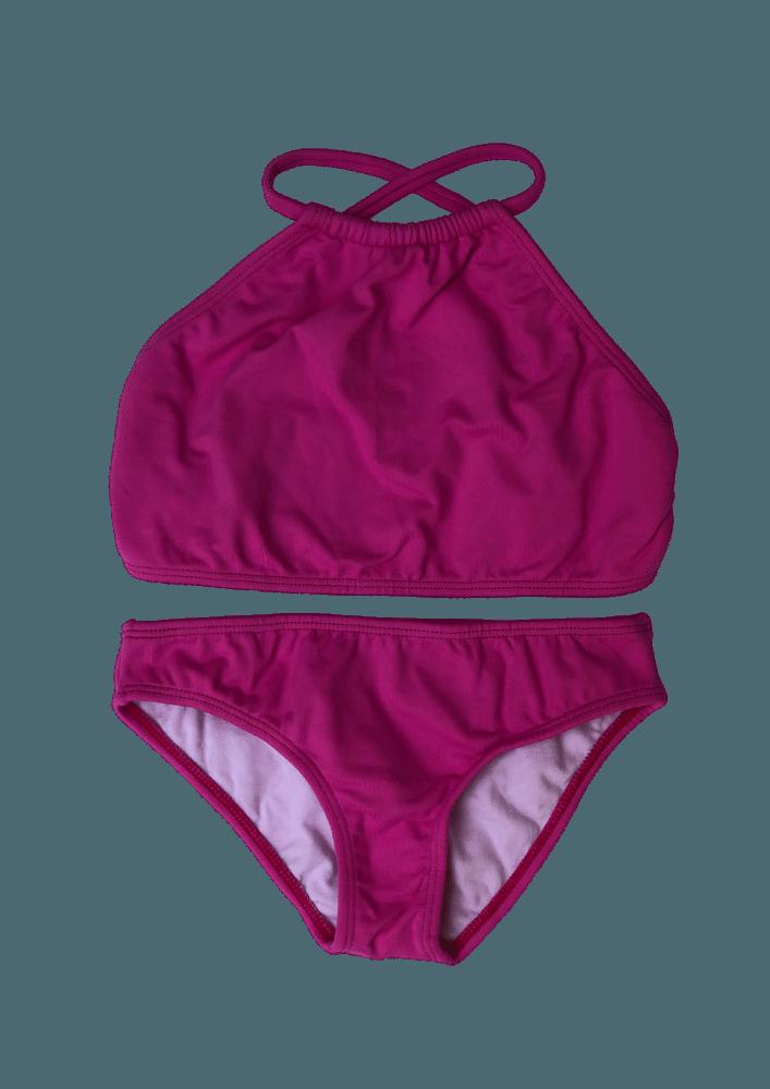 Biquíni Lycra Proteção UPF50+ Top Capri Rosa