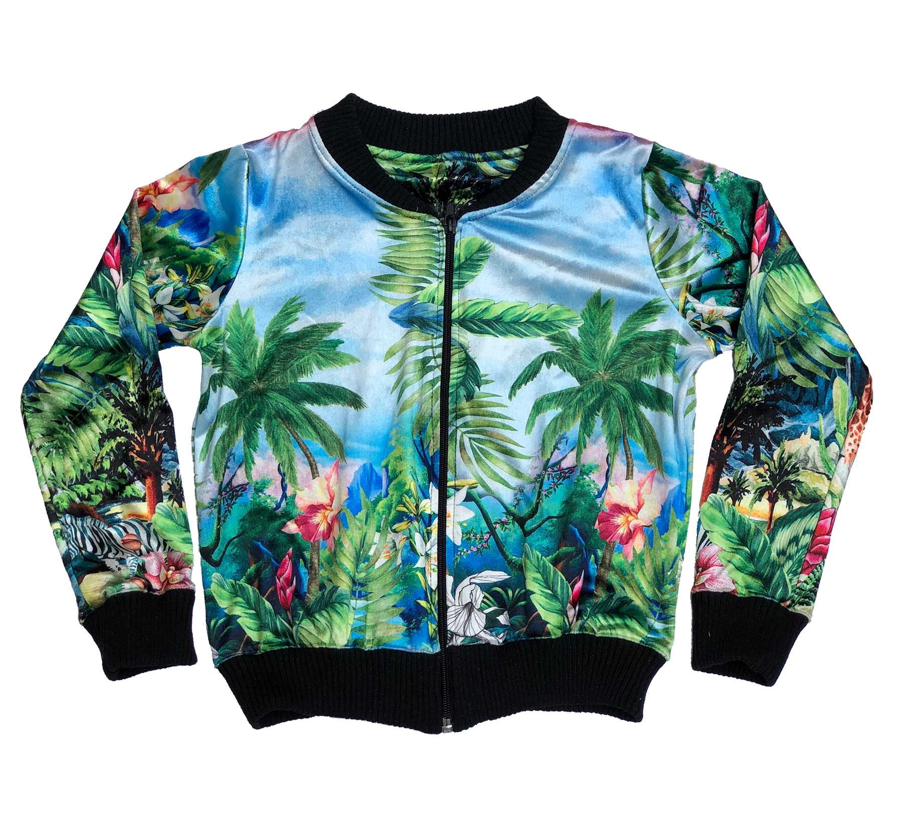 Jaqueta Bomber Tropical Jungle
