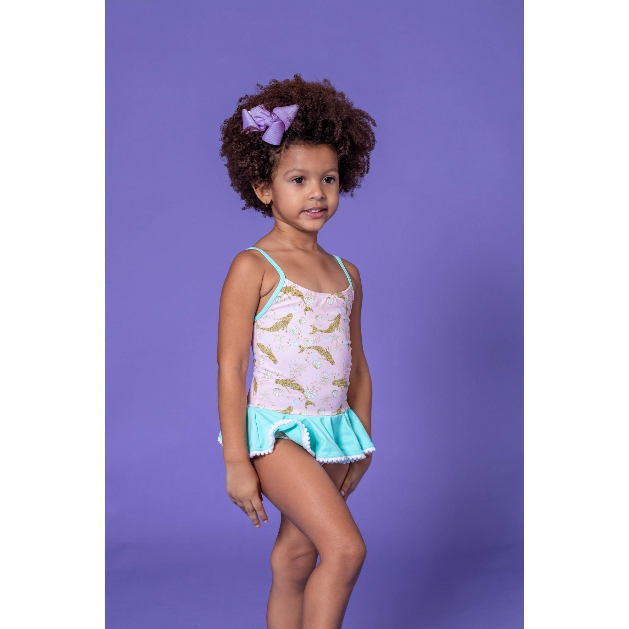 Maiô Lycra Proteção UPF50+ Bebê Sereia - Verão 2020