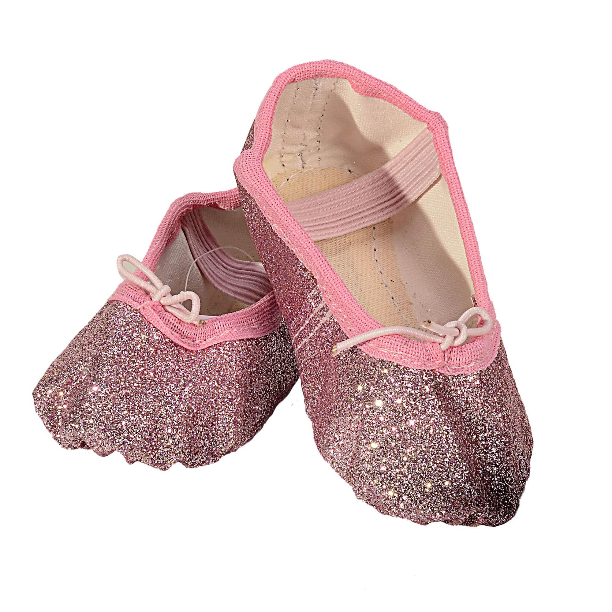 Sapatilha Glitter Rosa Claro