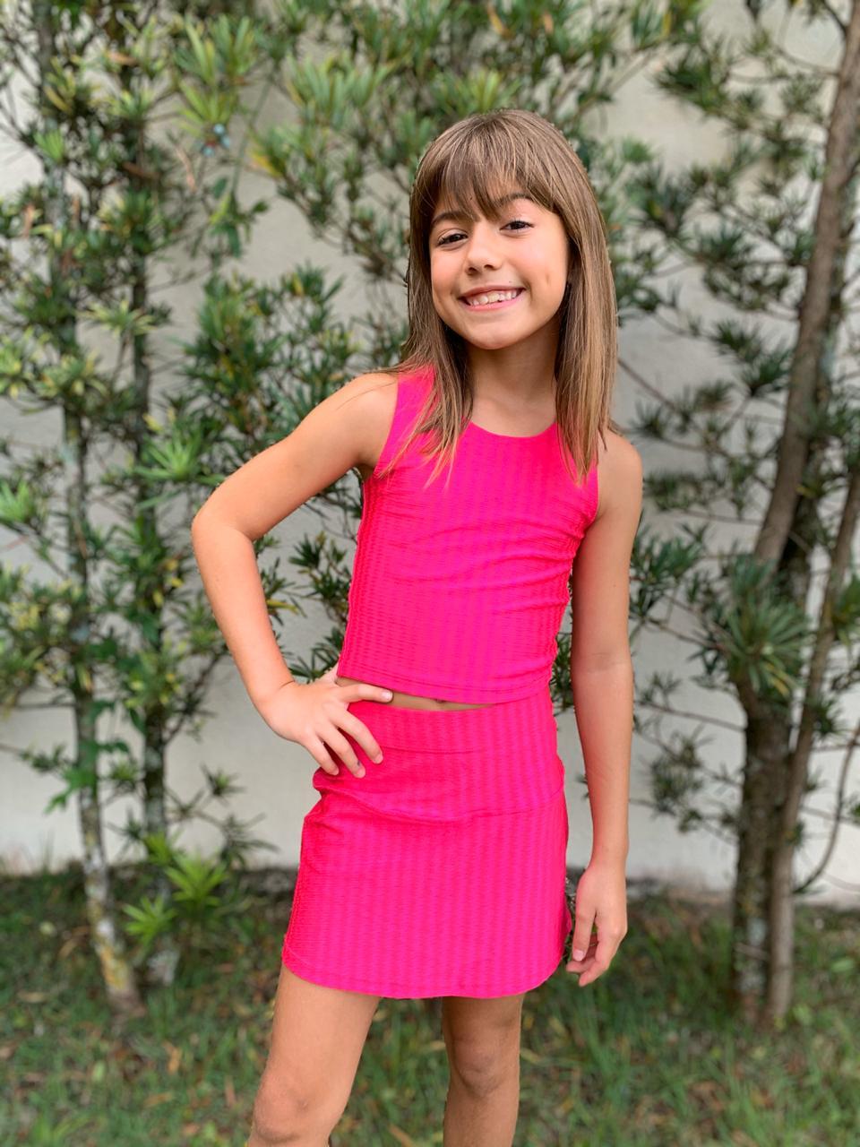 Shorts Saia Infantil Pink
