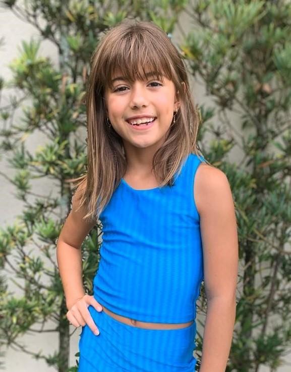 Top Infantil Azul Turquesa