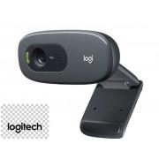 Webcam Logitech c270 HD para Chamadas e Gravações em Vídeo Widescreen 720p