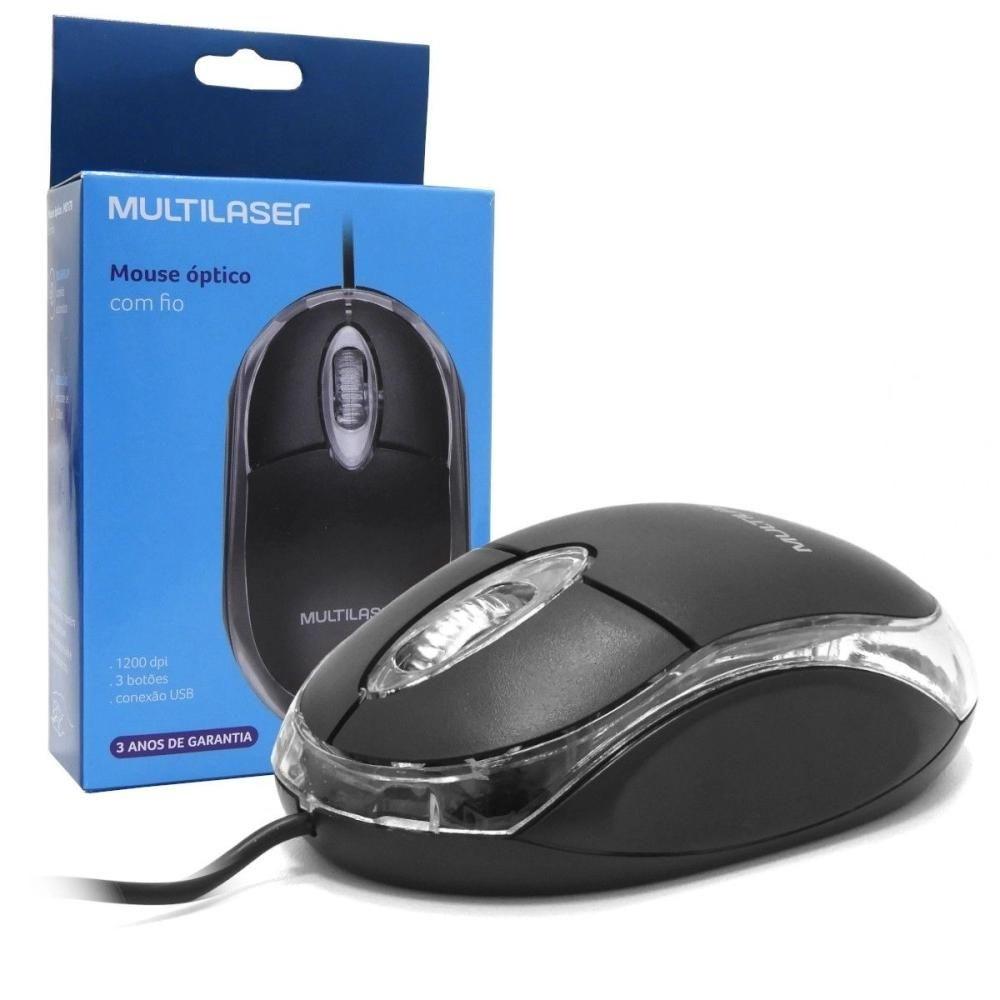 Mouse USB 800dpi optico preto MO130