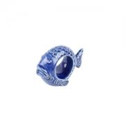 Anel  guardanapo de peixe cerâmica 6x8