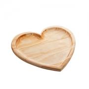 Bandeja madeira pinus coração 30x27x2cm