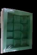 Caixa Para 12 Bombons Lisa Azul Tifany- 10 Un