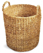 Cesto Seagrass Redondo Com Alça Manik 30cm Tyft - Yoi