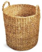 Cesto Seagrass Redondo Com Alça Manik 35cm Tyft - Yoi