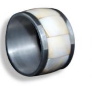 Conjunto argola Guardanapo Aço Inox Madre pérola - 5cm