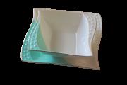 Prato porcelana quadrado 2 peças - 17 cm